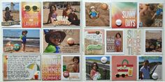 Layout by Kristine Davidson using Simple Stories Summer Vibes and {a flair for buttons}.