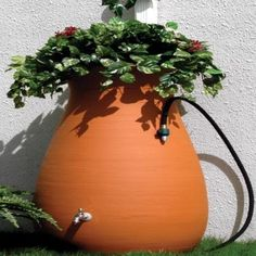 Nice looking rain barrel with 65 gallon capacity, and not a bad price ($200)