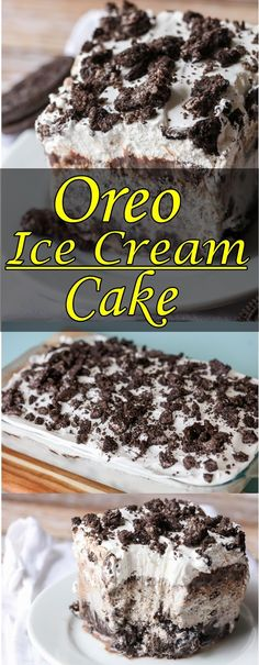 This Oreo Ice Cream Cake Makes For The Perfect No Bake Dessert During Warm Summer Months. Best Of All, It Only Takes 5 Simple Store Bought Ingredients!This simple, cool dessert is a go-to for summer t Make Ice Cream Cake, Oreo Ice Cream, Ice Cream Desserts, Köstliche Desserts, Frozen Desserts, Delicious Desserts, Ice Cream Cakes, Oreo Dessert Recipes, Pear And Almond Cake