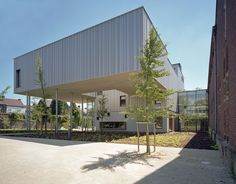 New wing of the Museum of Photography in Charleroi, Belgium, biggest photography museum in Europe