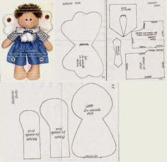 Angel of felt with mold pattern, not in English but can use translate on site, very cute