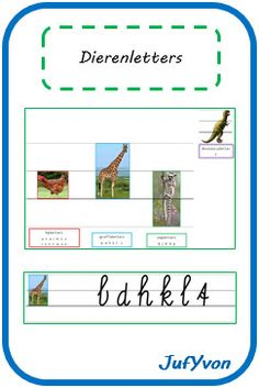 ©JufYvon: Dierenletters (en andere manieren om letterzones aan te leren) Nice Handwriting, Writing Skills, Spelling, Encouragement, School, Google, Om, Printables, First Grade