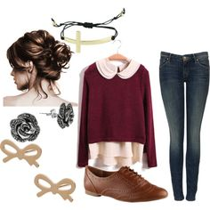 """""""cute nerdy girl outfit"""" by jensdreamcloset on Polyvore"""
