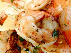 1 pound raw shrimp, peeled and deveined 1/4 cup olive oil 1/4 cup parmesan cheese, shredded 4 garlic cloves, minced, 2 tablespoons brown sugar 2 teaspoons soy sauce 1/2 teaspoon red pepper flakes  Marinade shrimp in for at least 1/2 an hour or up to a day. Saute on medium-high heat for about 5 minutes.