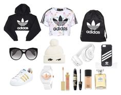 """Adidas Chic"" by emerald-baker ❤ liked on Polyvore featuring adidas Originals, adidas, Alexander McQueen, Kate Spade, Beats by Dr. Dre, AERIN, Max Factor, MAC Cosmetics and Chanel"