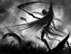New Dark Art Drawings Demons Death Grim Reaper Ideas Dark Fantasy Art, Fantasy Kunst, Dark Art, Fantasy Series, Grim Reaper Art, Don't Fear The Reaper, Arte Horror, Horror Art, Dark Fantasy
