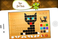 """FREE app April 7th (reg 2.99) """"Kids mosaic HD"""", an interactive educating game will help your children to train their memory, learn to distinguish colors, develop imagination and hands motor functions."""