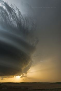 Storm Cell Nebraska by John Finney.  Beautiful, check out this wall cloud!