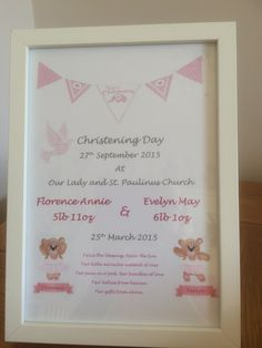 Christening Picture Personalised Gifts