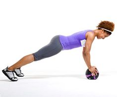 Propped Push-Ups: Do 2 sets of 8 reps with a 8-10 lb medicine ball.
