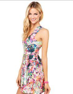 SUMMER CUTE SLEEVELESS DEEP V-NECK FLORAL PRINT ZIPPER PLEATED CASUAL DRESS>>>http://herefind.it/collections/dresses/products/summer-cute-sleeveless-deep-v-neck-floral-print-zipper-pleated-dress?variant=1289617684