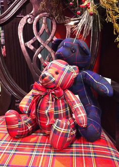 For a while, I made plaid bears as gifts . . .  so cute.  The Bay's Tartan bears.