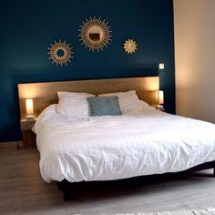 Blue Rooms, Blue Bedroom, Bedroom Wall, Farmhouse Master Bedroom, New Beds, Bedroom Apartment, Room Decor, Interior Design, Furniture