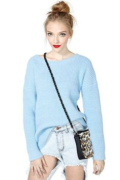 Hyped Up Sweater - Blue
