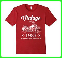 Mens Vintage Classic Rider 1957 T-Shirt 60th Birthday Gift Shirt Large Cranberry - Birthday shirts (*Amazon Partner-Link)