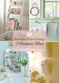 DIY:: 7 Pretty Cottage Styled Bathroom Storage Ideas !