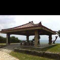Okinawa, Japan. Toguchi Beach ( Devil's Cove).. Many family picnics there