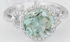 Green amethyst ring set in white gold. ♥ absolutely stunning