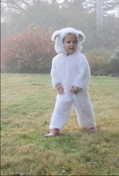 Sheep Costume-- Joann's Fabrics For Pattern and Supplies, made by my mother (@Peace Savetz)