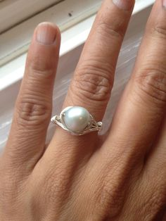 Freshwater Ice Blue Silver Ring Size 7 Etsy jewelry by Lilyb444, $20.00