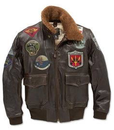 Just found this Leather Navy Jacket - Top Gun Navy G-1 Leather Jacket -- Orvis on Orvis.com!