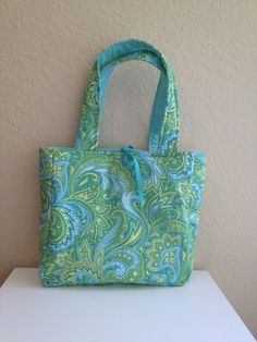 Peacock Inspired Reversible Tote on Etsy, $20.00