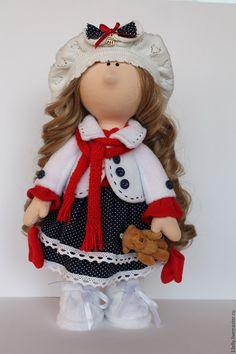 Купить Настена - белый, кукла интерьерная, кукла ручной работы, кукла в подарок, Снежка