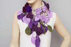 Hey, I found this really awesome Etsy listing at https://www.etsy.com/listing/218650096/crochet-scarf-crochet-lariat-flower