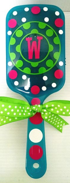 Jodi's Accessories - Green Dot with Polka Dots Blue Brush, $8.00 (http://jodisaccessories.net/products/green-dot-with-polka-dots-blue-brush.html/)