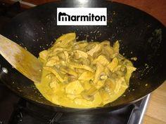 Recette de Sauté de dinde au curry