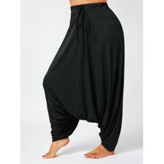 4bd14983f08 Buy wholesale drawstring drop bottom plus size harem pants 2xl black for   11.66 from China pants