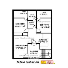 50 gaj area house layout plan plan 1 35x60 house plans