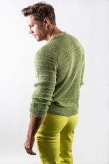 The drape of this hemp sweater creates a loose fitting body hugger. - James