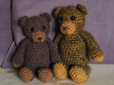 fuzzy crochet teddy bear pattern - so much more teddy bear like than the last bear I made!