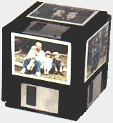 """Floppy Disk Photo Cube"" Who doesn't have some of these still laying around not getting used since many computers don't use these anymore!"