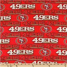 NFL Fleece San Francisco 49ERS Red. $9.98/yard