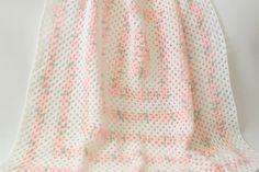 🌸 🌼 🌸 Cobertor Crochetar Bebê Avó Afegão Deite itens decorativos Criações -  /  🌸 🌼 🌸 Crochet Baby Blanket Granny Afghan Throw Knacks Creations -