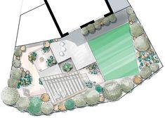 Option 2 - Floorplan Mental Health Benefits, North Hills, Garden Works, Garden On A Hill, Landscaping Work, Garden Maintenance, Glasgow Scotland, Urban Setting, Extra Rooms
