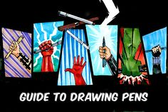 Guide to Drawing Pens at www.jetpens.com Very Helpful!!!