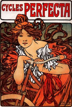 Mucha Bicycle Poster