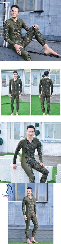 MEIYIER Men Wetsuits One-Piece Diving Suit Camouflage Swimwear Men Spearfishing Surfing Clothing Zipper Wetsuit Diving buceo