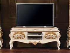 Solid wood TV cabinet 11105 Villa Venezia Collection by Modenese Gastone group