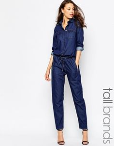 Glamorous Tall Denim Boilersuit