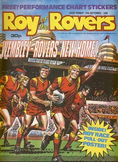 Roy of the Rovers Comic September 1988 used condition. This is an old comic which has been read and has some creases and handling marks. Old Comics, Plank Workout, Soccer Players, Nostalgia, September, Comic Books, Football, Magazine, England