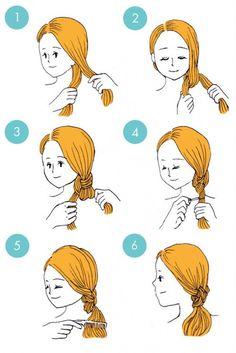 coiffure double noeud