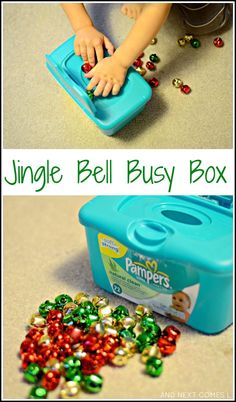 Jingle bell busy box: Christmas fine motor play from And Next Comes L- repinned by @PediaStaff – Please Visit  ht.ly/63sNt for all our pediatric therapy pins