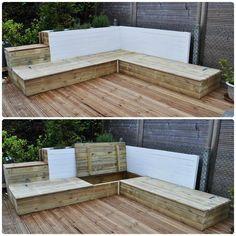 Table basse tag re salon de jardin ou canap les for Canape exterieur en palette
