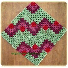 Transcendent Crochet a Solid Granny Square Ideas. Inconceivable Crochet a Solid Granny Square Ideas. Crochet Quilt, Crochet Blocks, Crochet Squares, Knit Or Crochet, Crochet Granny, Crochet Motif, Crochet Crafts, Crochet Stitches, Crochet Projects
