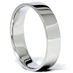 5MM Flat Comfort Fit 950 Platinum Wedding Ring Mens Women Plain Band FREE SIZING | eBay