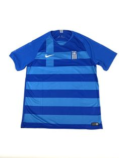 498b1c5b Details about Nike 2018 Greece Stadium Away Blue Soccer Jersey Mens Size L  AA3079-439 NWT $90